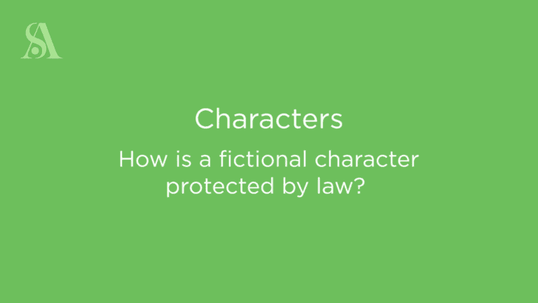 How is a fictional character protected by law?